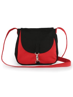 Red and black sling bag