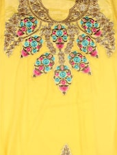Trendy Yellow Georgette Embroidered Salwar Suit - Style Mania