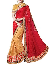 Red Georgette Embroidered Saree - By - 9541441