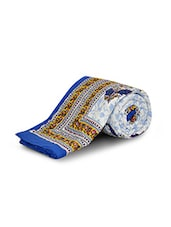 Blue Cotton Printed One Single Quilt - By