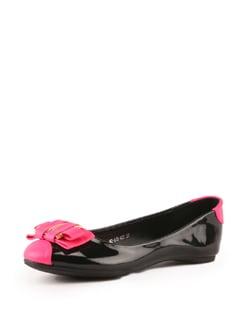 Black And Pink Ballerinas - Tresmode