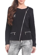 Black Fleece  Long Sleeved Jacket - By
