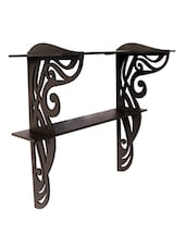 Brown Colonial Cutwork Wooden Wall Bracket - By