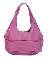 Pink Faux Leather Hobo Bag - Bags Craze