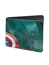 Black Leather Fighting Leather Wallet - By