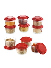 Microwave Proof Refrigerator Storage Air Tight Food Savers Round Small Containers - Prime Housewares