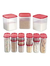Red Storage Containers (set Of 14) - Primeway Elite