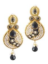 Stunning Party Wear Black Earrings - Rich Lady