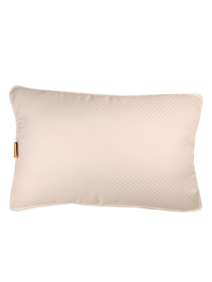 White cotton check pillow - 956739 - Standard Image - 2