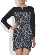 Black And Grey Printed Viscose Dress - By - 9572383