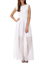 White Georgette Maxi Dress - By