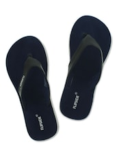 Navy And Black Flip Flop Slippers - By