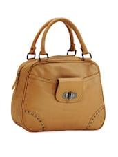 Studded Brown Leather Shoulder Bag - Phive Rivers