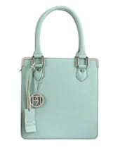 Sea Green Structured Leather Bag - Phive Rivers