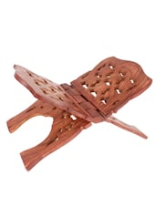 WOODEN HAND CARVED HOLY BOOK STAND,FOR QURAN,BIBLE,GITA,VED ,GURU GRANTH SAHIB - Onlineshoppee