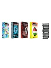 Combo Pack Of 1 Black Hookah,4 Flavours,36 Charcoal Disk - Onlineshoppee