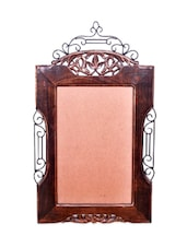 Wooden And Iron Mirror Frame/ Photo Frame Big Antique Look - Onlineshoppee