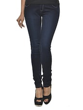 Dark Blue Denim Lycra Jeggings - Ursense