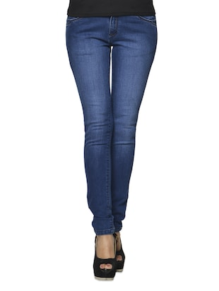 Medium Blue Denim Lycra Jeans