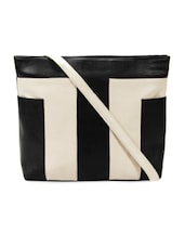 Black And Off White Sling Bag - Bagsy Malone