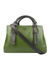 Olive Green Hand Bag Cum Sling Bag - Bagsy Malone