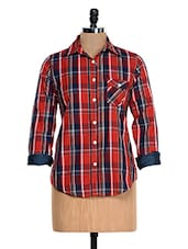 Red And Blue Chequered Shirt - Fast N Fashion