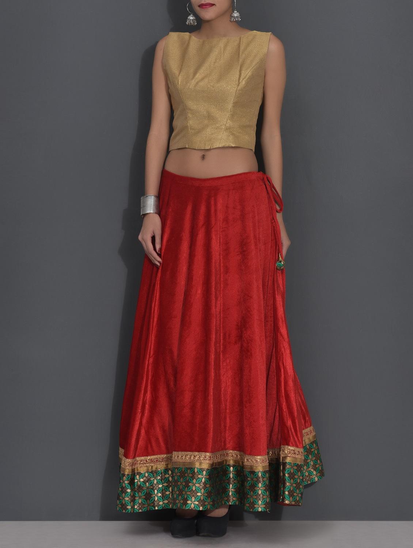 6c1bf11c2d67b Crop Top And Maxi Skirt Set India