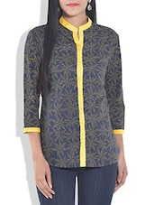 Blue Cotton Block Printed Tunic - By