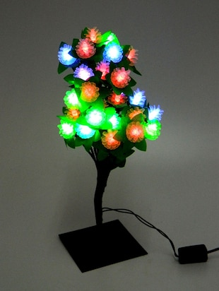 Green and White  LED Tree Lamp
