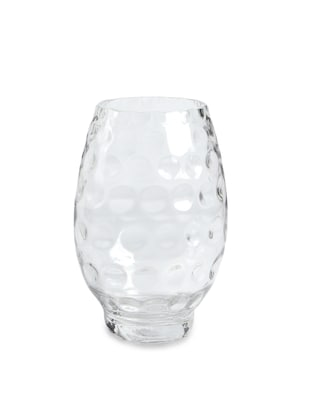 Natural Glass Thumbprint Vase