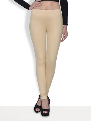 Brown Cotton And Spandex  Jeggings