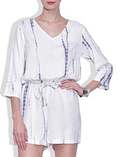 Purple Polyester Plain Long Sleeved Top - By