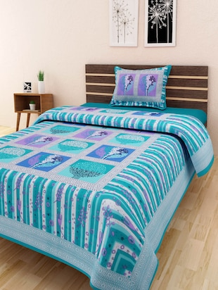 CHOKOR JAIPURI COTTON MULTI COLOR FLORAL SINGLE BEDSHEET