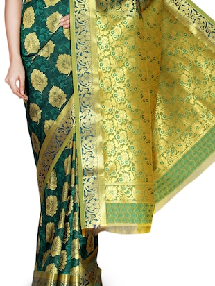 Dark green Art kanjivaram silk saree - 9600604 - Standard Image - 2
