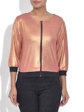 Shiny Rose Pink Bomber Jacket - By
