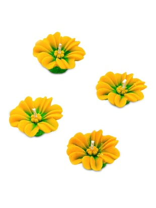 Yellow and Green Floral Candle Diyas