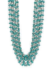 stylish Turquoise Beaded Necklace -  online shopping for Necklaces