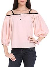 Powder Pink Off Shoulder Top - Ridress