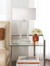 Modern White Acrylic  Table Lamp - Printfry