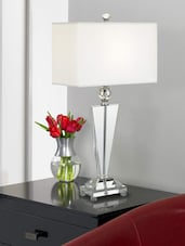Luxury White Acrylic Table Lamp - Printfry