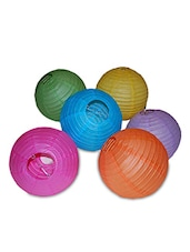 Multicolored Paper    Lantern Set - By