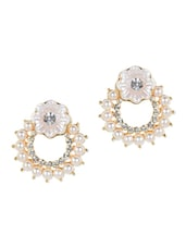 Tryst With Pearls Stud Earrings - YOUSHINE