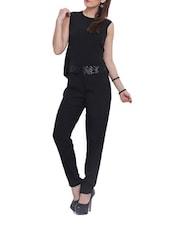 Black Sequined Jumpsuit - Pera Doce
