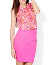 Floral Printed Collared Top - Pera Doce