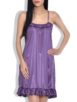 Lavender colored babydoll