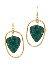 Gold Plated Oval Twisted Statement Earrings - Blinglane