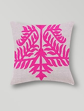 Set Of 2 Cream Designed Cotton Cushion Covers - By