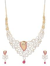 Gold Plated Filigree Design Necklace Set - Blinglane