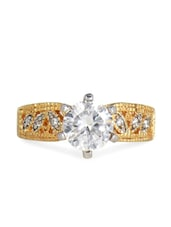 American Diamond Solitaire Cubic Zirconia Ring - Blinglane