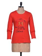 Orange Long Sleeve Crew Neck T-shirt - Aloha